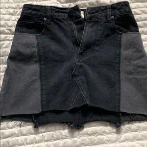Cotton On black Aline mini skirt